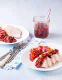 Chicken fillet with cranberry relish Stock Photography