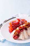 Chicken fillet with cranberry relish Stock Image