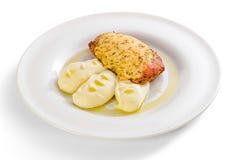 Chicken fillet in Dijon Stock Photography
