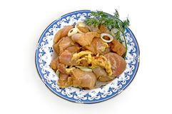 Chicken fillet with dill Stock Images