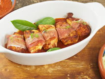 Chicken fillet with ham Stock Photo