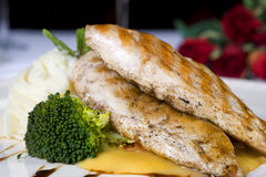 Chicken fillet a la carte meal Royalty Free Stock Images