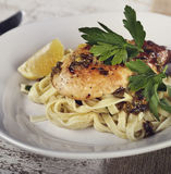 Chicken Fillet With Pasta Royalty Free Stock Image