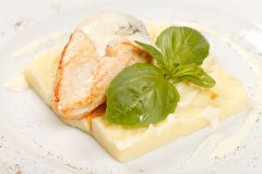 Chicken fillet with potatoes Stock Photography