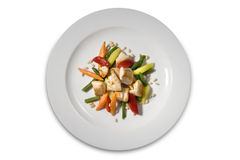 Chicken fillet with vegetables Stock Image