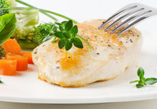 Chicken fillet with vegetables Royalty Free Stock Photography