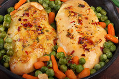 Chicken fillet with vegetables Stock Photo