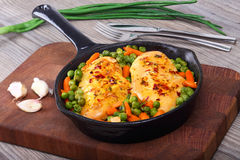 Chicken fillet with vegetables Stock Photos