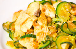 Chicken fillet with zucchini Stock Image