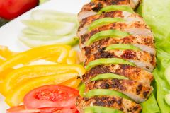 Chicken fillets with avocado Stock Image