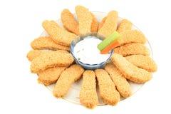 Chicken fingers stock photo