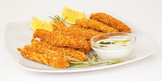 Chicken fingers stock photo