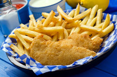 Chicken Fingers And French Fries Royalty Free Stock Photography