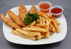 Chicken Fingers Combo Stock Images