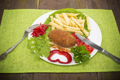 Chicken fish Ukraine Royalty Free Stock Image