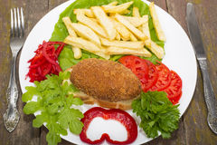Chicken fish Ukraine Stock Photography