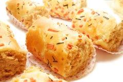 Chicken Floss Scroll Bun Stock Image