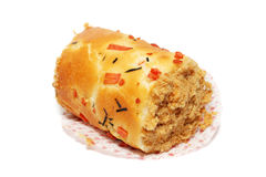 Chicken Floss Scroll Bun Royalty Free Stock Image