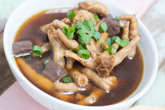 Chicken foot soup Royalty Free Stock Photo