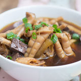 Chicken foot soup Stock Photography