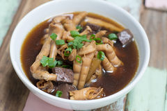 Chicken foot soup Stock Image