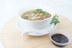 Chicken foot soup Stock Images
