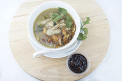 Chicken foot soup. Is very popular in Malaysian / Indonesian as well for the health of the bone joints and collagen Stock Photo