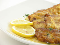 Chicken francaise Stock Images