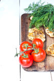chicken fresh breasts fillet with fresh vegetables Royalty Free Stock Photos