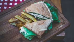 Chicken And Fresh Vegetable Sandwich Spread royalty free stock images