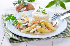 Chicken fricassee Stock Photos