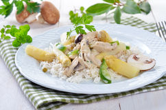 Chicken fricassee Royalty Free Stock Images
