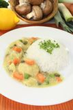 Chicken fricassee with rice Stock Photo