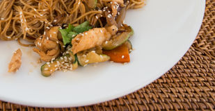 Chicken fried noodle Royalty Free Stock Photography