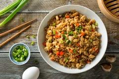 Free Chicken Fried Rice Stock Photo - 114287130