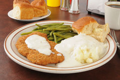 Chicken fried steak Royalty Free Stock Photo