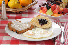 Chicken fried steak breakfast Royalty Free Stock Photo