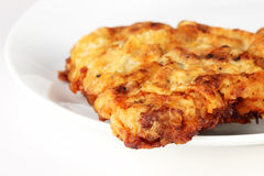 Chicken fried steak. Close up of Southern staple of pan fried beef steak stock images