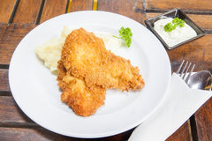 Chicken fried steak with mashed potatoes and country gravy Royalty Free Stock Images