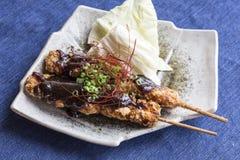 Chicken fried teriyaki Stock Photo