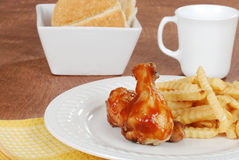 Chicken and fries Royalty Free Stock Photography