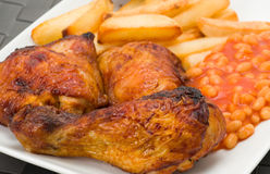 Chicken and fries Stock Photography