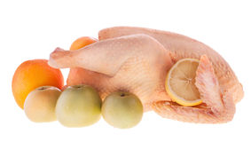 Chicken and Fruits Royalty Free Stock Image