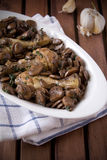 Chicken with fungus Stock Photography