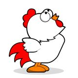 Chicken. Funny cartoon chicken. Cute cartoon White chicken. Vector illustration with simple gradients. All in a single layer. Chicken Singing Paradise vector illustration
