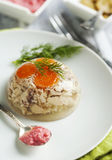 Chicken galantine aspic Royalty Free Stock Photography