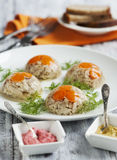 Chicken galantine aspic Royalty Free Stock Image