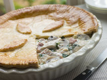 Chicken Gammon and Mushroom Pie Royalty Free Stock Photos