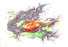 Chicken gammon Stock Images