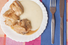 Chicken with garlic series 04 royalty free stock images